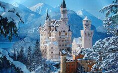 building-germany-castle-raynshvanshtayn-winter-living-room-home-wall-art-decor-wood-frame-fabric-posters-ex534.jpg